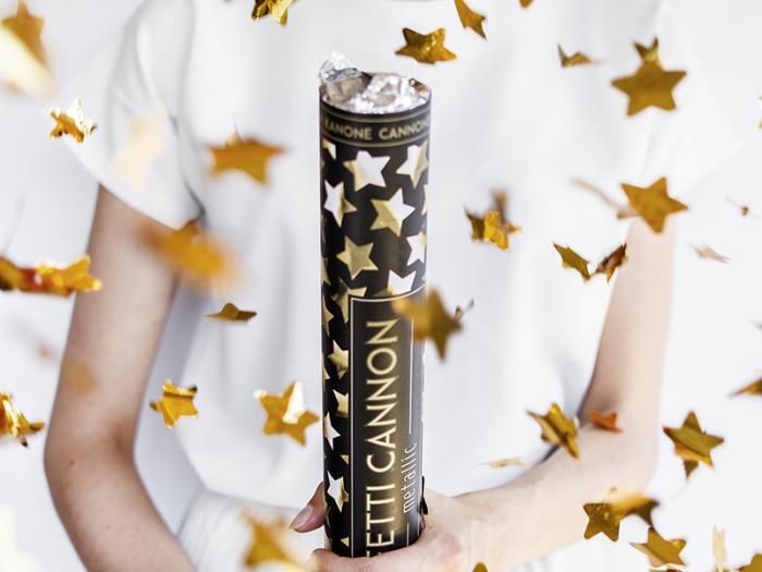Tun Confetti Stele, Auriu, 40 cm 3