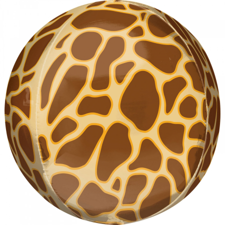 Balon Folie Orbz, Print Girafa - 41 cm0