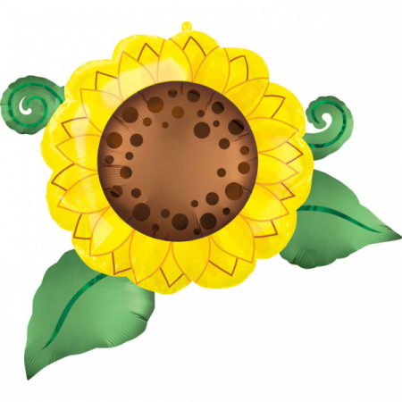 Balon Folie Floarea Soarelui - 76 x 66 cm