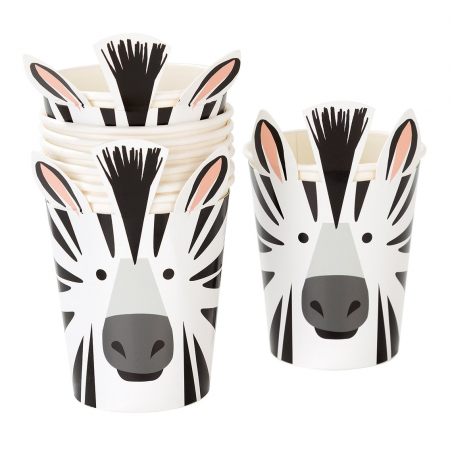 Set 8 Pahare Zebra Party Animals, 250 ml [1]