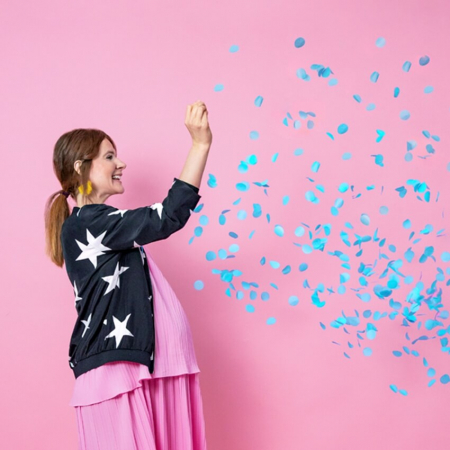 Balon cu Confetti Gender Reveal, Baiat - 100 cm2