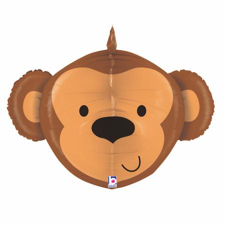 Balon Folie 3D Cap Maimuta - 67 cm0