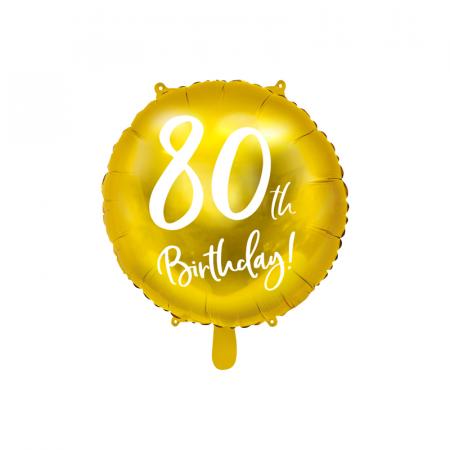 Balon Folie 80 ani - 45 cm0