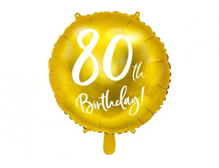 Balon Folie 80 ani - 45 cm9