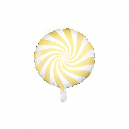 Balon Folie Acadea, Galben - 45 cm0