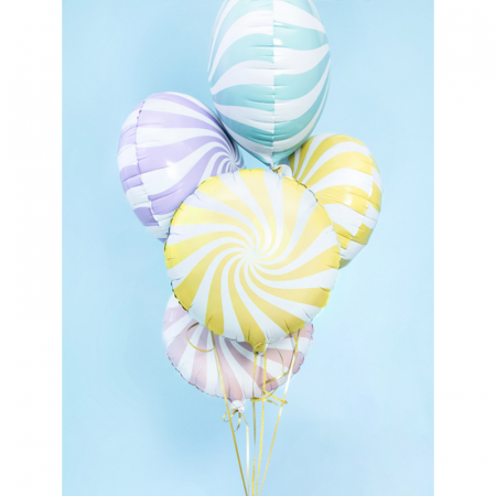 Balon Folie Acadea, Galben - 45 cm2