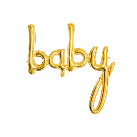 Balon Folie Baby, Auriu - 73.5 x 75.5 cm0