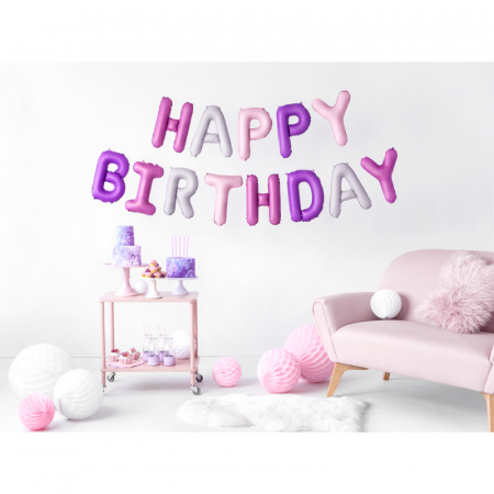 Baloane Folie Happy Birthday Multicolor - 340x35 cm1