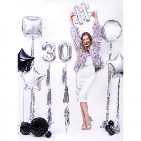 Balon Folie Hashtag, Argintiu - 35 cm3