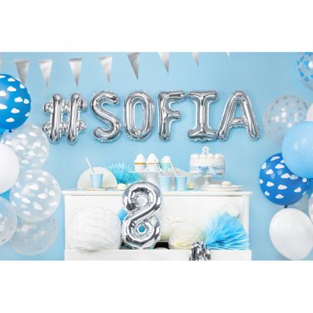 Balon Folie Hashtag, Argintiu - 35 cm2
