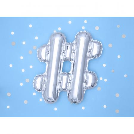 Balon Folie Hashtag, Argintiu - 35 cm1