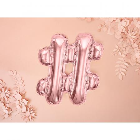 Balon Folie Hashtag, Roz - 35 cm1