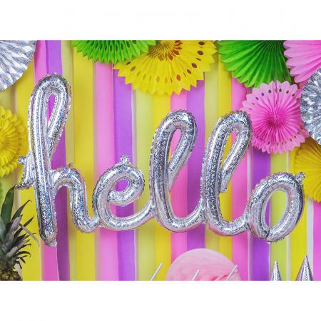 Balon Folie Holografic Hello - 72x45 cm2