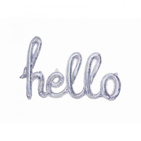 Balon Folie Holografic Hello - 72x45 cm0