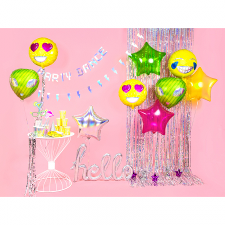 Balon Folie Holografic Hello - 72x45 cm3