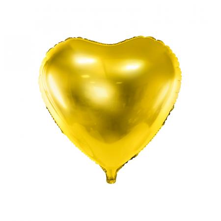 Balon Folie Inima, Auriu - 45 cm0