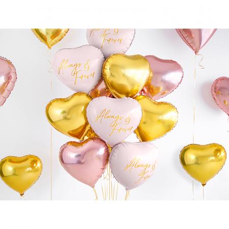 Balon Folie Inima, Auriu - 45 cm2