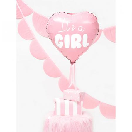 Balon Folie Inima, It's a Girl - 45 cm [1]