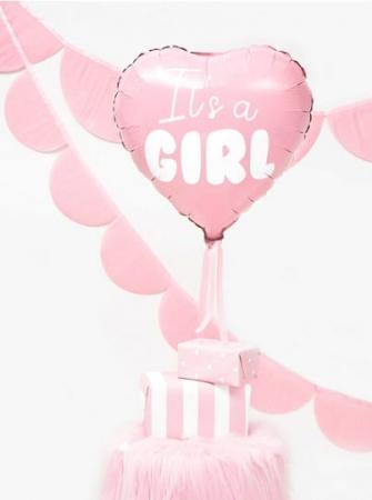 Balon Folie Inima, It's a Girl - 45 cm [5]
