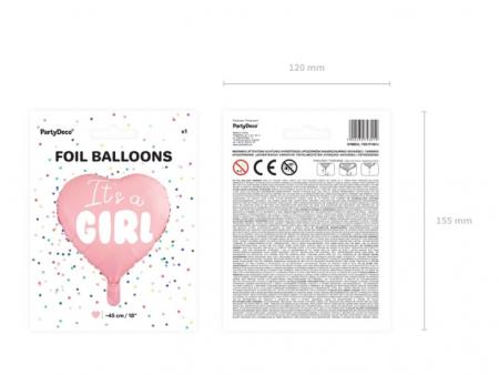 Balon Folie Inima, It's a Girl - 45 cm [7]