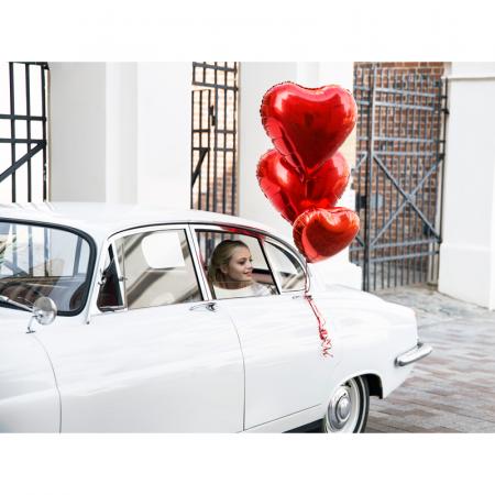 Balon Folie Inima, Rosu - 45 cm [2]