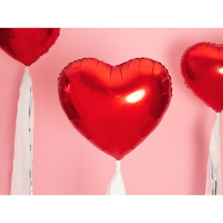 Balon Folie Inima, Rosu - 45 cm [1]