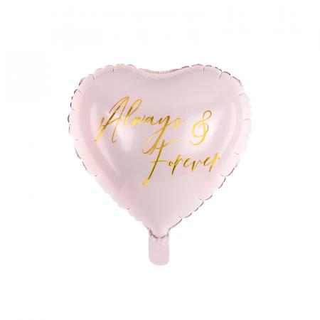 Balon Folie Inima Roz, Always & Forever - 45 cm0