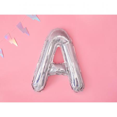 Balon Folie Litera A Holografic, 35 cm1