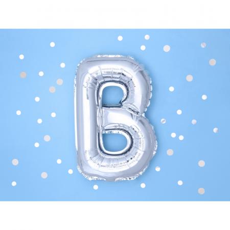 Balon Folie Litera B Argintiu, 35 cm1
