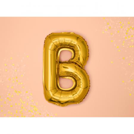 Balon Folie Litera B Auriu, 35 cm1