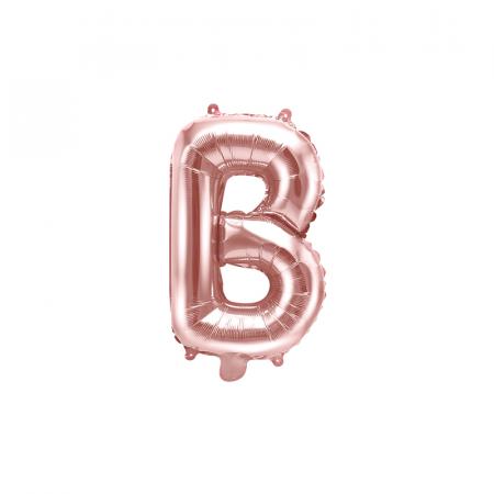 Balon Folie Litera B Roz, 35 cm [0]