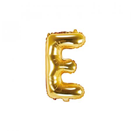 Balon Folie Litera E Auriu, 35 cm0