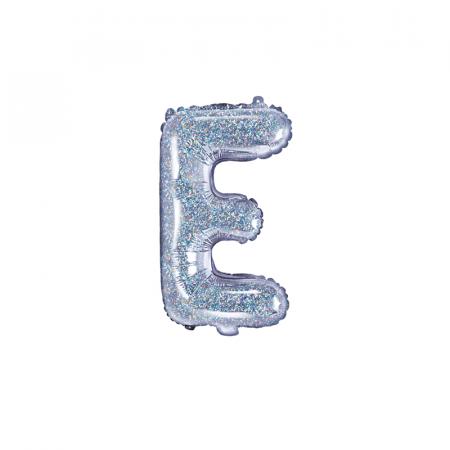 Balon Folie Litera E Holografic, 35 cm [0]