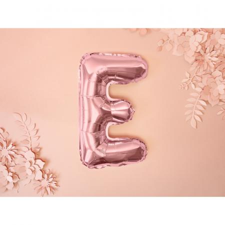 Balon Folie Litera E Roz, 35 cm1