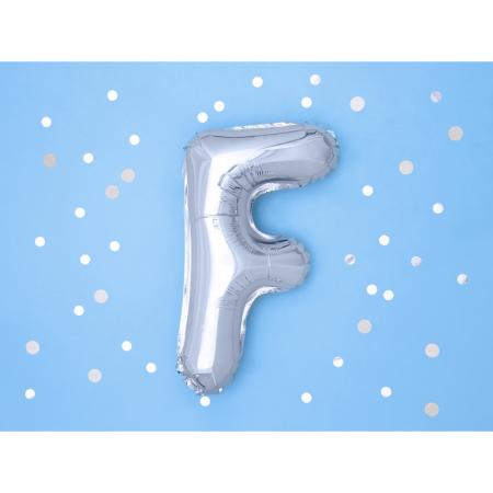 Balon Folie Litera F Argintiu, 35 cm1
