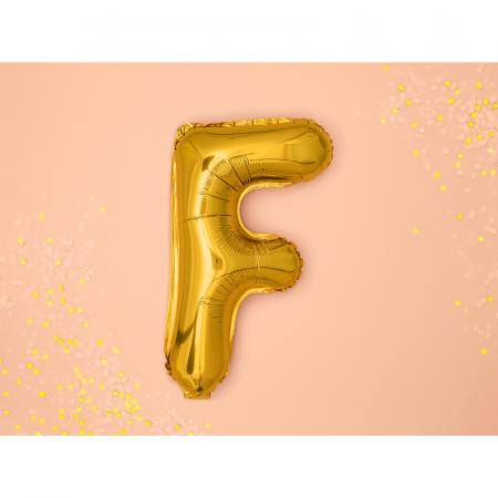 Balon Folie Litera F Auriu, 35 cm1