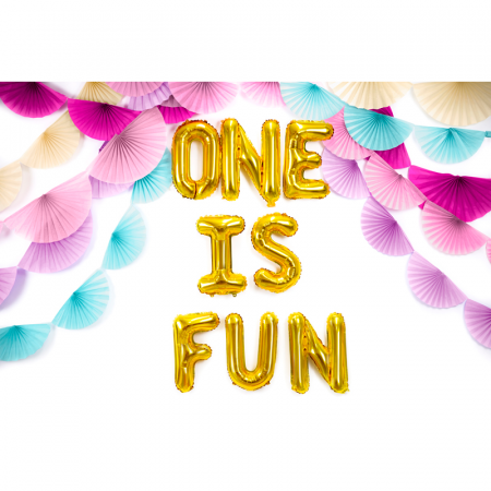 Balon Folie Litera F Auriu, 35 cm [2]