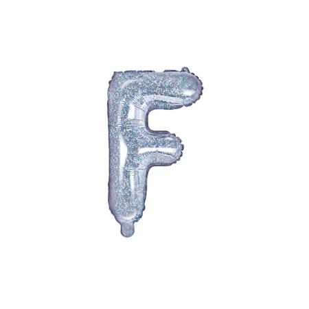 Balon Folie Litera F Holografic, 35 cm0