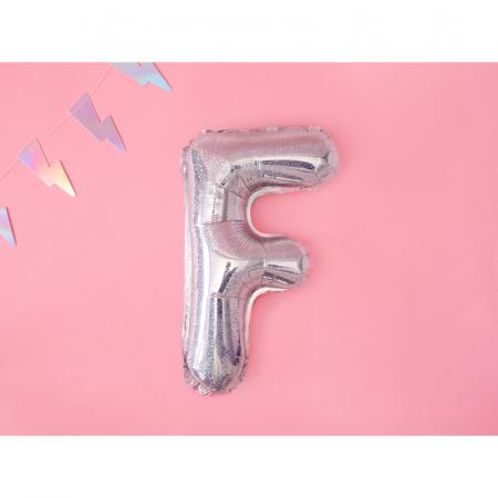 Balon Folie Litera F Holografic, 35 cm1
