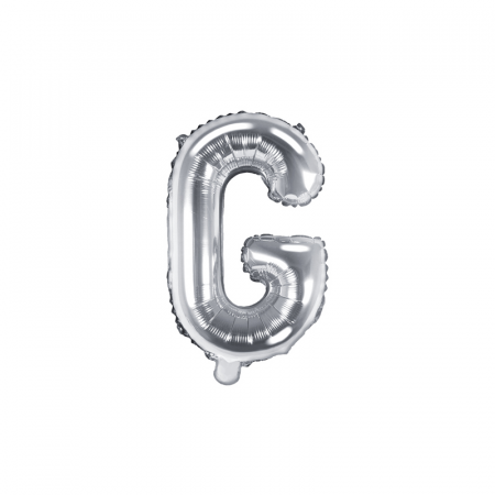 Balon Folie Litera G Argintiu, 35 cm [0]