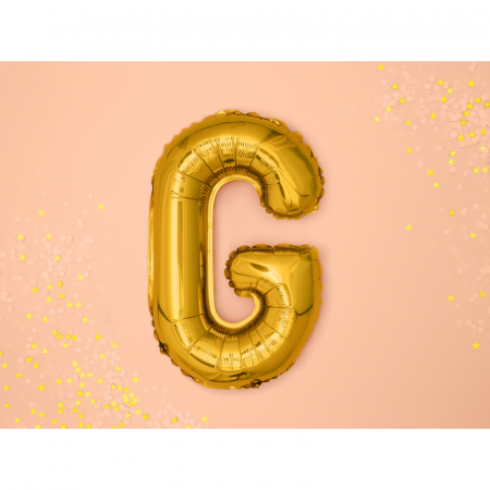 Balon Folie Litera G Auriu, 35 cm1
