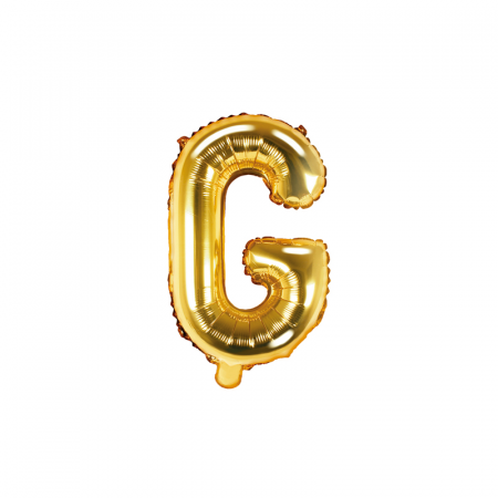 Balon Folie Litera G Auriu, 35 cm0
