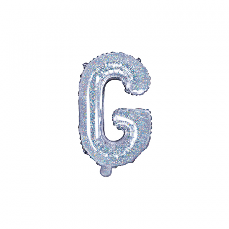 Balon Folie Litera G Holografic, 35 cm [0]