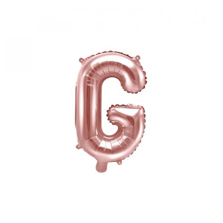 Balon Folie Litera G Roz, 35 cm0