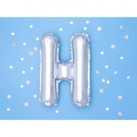 Balon Folie Litera H Argintiu, 35 cm1