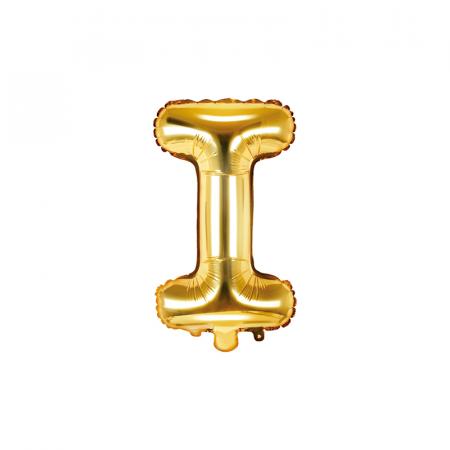 Balon Folie Litera I Auriu, 35 cm0
