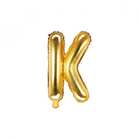 Balon Folie Litera K Auriu, 35 cm [0]