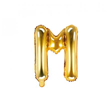 Balon Folie Litera M Auriu, 35 cm0