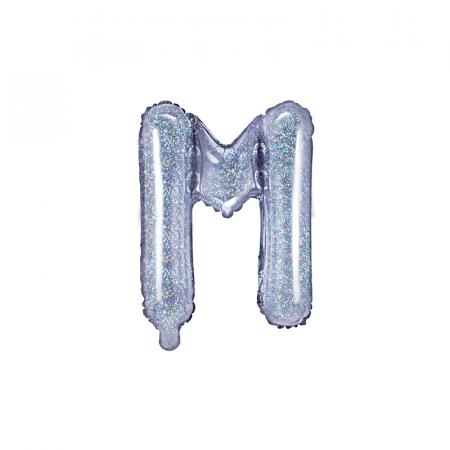 Balon Folie Litera M Holografic 35 cm0