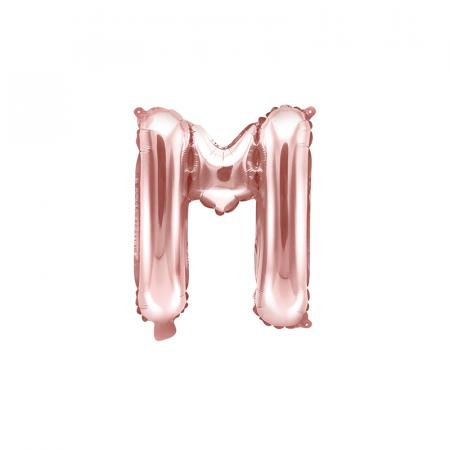 Balon Folie Litera M Roz, 35 cm [0]